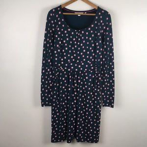 BODEN | teal sunburst jersey dress 0334